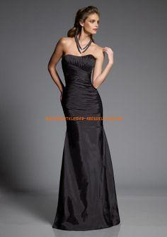 2013 Billige Abendkleider schwarz A-Linie