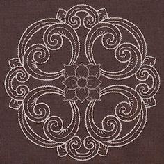 Designs in Stitches - Damask Decor