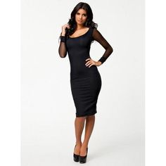 Sexy Scoop Neck Mesh Splicing Black Dress For Women Fashion Sale, Fashion 2017, Women's Fashion Dresses, Black Midi Dress Bodycon, Discount Dresses, Mesh Dress, Sexy Women, Scoop Neck, Bandage Dresses