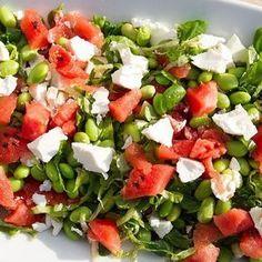 Sommer salat med vandmelon og feta - Det handler mest om mad