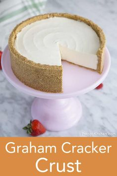 This Perfect Graham cracker crust from Preppy Kitchen is made from scratch; but it's so quick and easy you'll never want to buy a pre-made one again! They're perfect for pies cheesecakes cookie bars and so much more. Cheesecake Crust, Cheesecake Desserts, Homemade Cheesecake, Baking Recipes, Cookie Recipes, Dessert Recipes, Pie Recipes, Recipies, Graham Cracker Crust