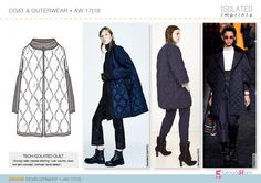 Denim fashion trends forecasting AW1718 | flat drawings and product developments by 5forecastore