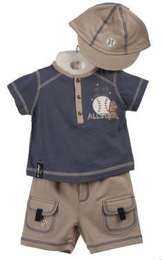 93c6aad2cd52 Minibasix Infant Boy s 3-piece  Allstar  Baseball Clothing Set Toddler Boy  Outfits