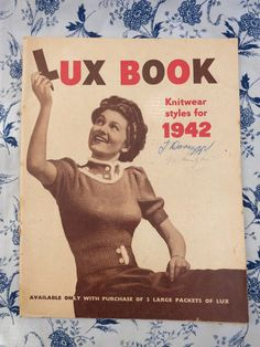 Lux Book Knitting Patterns from 1942, vintage knitting patterns from the 1940s, $3.50