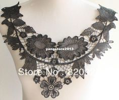 3 X Neckline Collar Flower Black Lace Costume Collar Necklace | Buy Wholesale On Line Direct from China