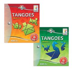 Travel Tangoes Tangram Puzzle Toy for Kids | OneStepAhead.com.  My sister got one for our son, 4 at the time.  Super easy.  Great for on the go.
