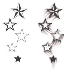 Freebies Shooting Stars Tattoo Design by TattooSavage on DeviantArt
