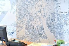 Décoration murale pour le siège d'Eure-Habitat