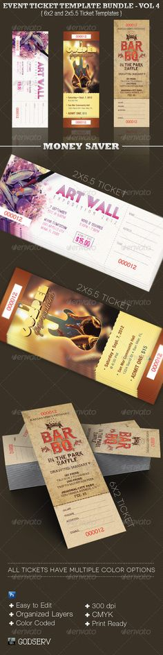 Vintage Event Ticket Template PSD Ticket Templates Pinterest - create a ticket template