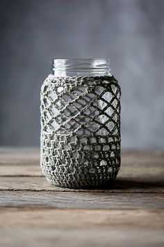 Pure Cotton Crochet Cover for 1 Quart Mason Jar on Etsy