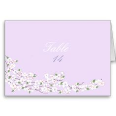 Blossoms Table Seating Card #weddings #tablenumbers