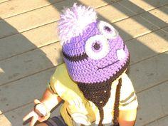 Despicable Me Evil Minion Purple Minion Crochet by kimerin13