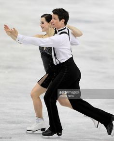 Tessa Virtue and Scott Moir of Canada compete in the Ice Dance Short Dance Figure Skating competition at Iceberg Skating Palace during the Sochi 2014 Winter Olympics in Sochi, Russia on February 16, 2014.