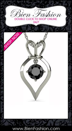 Pendant Necklace | Pendant | Necklace | Bold Jewelry | Fashion Jewelry | Fashion Accessories | Bien Fashion | Bien | Fashion | BF | Collares | Coyares | Comprar Ahora | SHOP NOW ♥ Natural Treated Black Round Diamond Royal Heart Pendant From 0.50ct - 1.50ct in 925 Sterling Silver.Included 18 inches Silver Rope Chain. $375.00