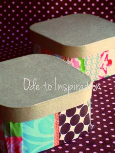 Keep or throw away small scraps? Fabric Scraps Gift Boxes