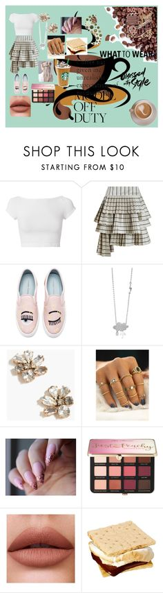 """coffee for me for you"" by chapbl on Polyvore featuring Helmut Lang, Zimmermann, Chiara Ferragni, J.Crew and Sephora Collection"