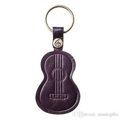 Real Leather Ukulele keychain Gift Leather Keychains Popular Fashion Accessories Leather Keychains for Gifts Ukulele Keychains