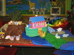 Noah's Ark small world play classroom display photo - Photo gallery - SparkleBox
