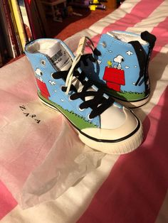 check out 7602f 93e8b Zara Girl Snoopy Sneakers Size 11  fashion  clothing  shoes  accessories   kidsclothingshoesaccs