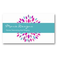 Decorating Business Cards With Smart Two Side Design Colorful Elements All Designed For