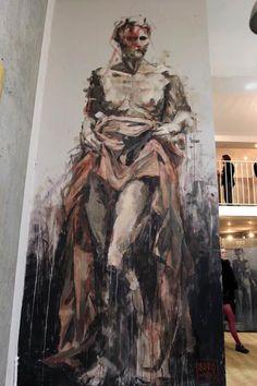 Borondo Paris .  #borondo http://www.widewalls.ch/artist/borondo/