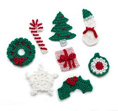 Holiday Motifs - I plan to make a garland with them or use as ornaments on just a broken stick off of an old tree!