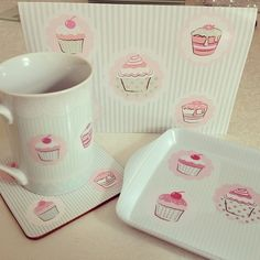 cupcake products to use for the bakery ♡