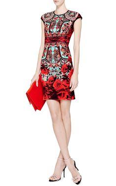Rose Matador Printed Neoprene Dress by Clover Canyon - Moda Operandi