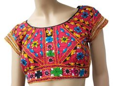 Bujh embroidery on blouses. Read more http://fashionpro.me/10-different-types-embroidery-embellishments-blouses-35-pics