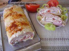Dobroučká sýrová roláda • Dobroty na každý den Ham, Sushi, Food And Drink, Appetizers, Cheese, Chicken, Ethnic Recipes, Cooking, Jars