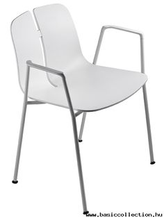 Basic Collection, Link armchair #link #armchair #white #furniture #design #metal #chair #veneer #contract