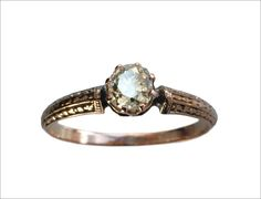 1890s Victorian ~0.50ct Mine Cut Diamond Engagement Ring, 14K