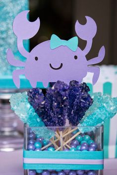So without pulling any punches, her mom and pop set out to throw the most beautifully orchestrated mermaid party to rival all others. Little Mermaid Baby, Little Mermaid Birthday, Little Mermaid Parties, 2 Baby, 4th Birthday Parties, Birthday Ideas, 5th Birthday, Birthday Celebration, Rosalie