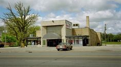 Dunes Theater in Zion IL - building is gone now, wonder what it will become?  2016