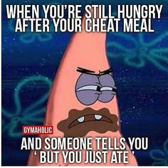 But it's a cheat day....