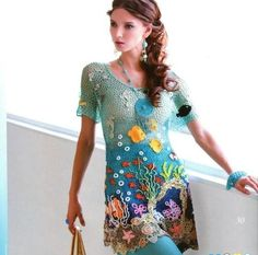 """TUNIC """"Blue Lagoon"""" Really pretty, but way beyond my expertise!!"""