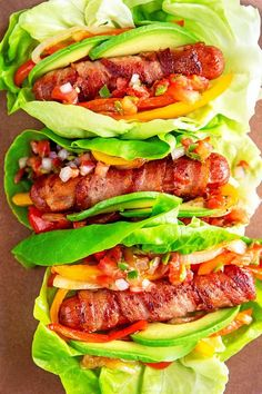 Have you heard about my keto-, and paleo-friendly version of Sonoran hot dogs, those crispy bacon-wrapped hot dogs smothered with your favorite Mexican-inspired toppings? You can make this simple version at home and you won't even miss the bun! Hot Dog Recipes, Whole 30 Recipes, Paleo Recipes, Whole30, Korean Diet Plan, Korean Food, Bacon Wrapped Hotdogs, Paleo Bacon, Paleo Bread