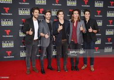 Dvicio arrive at the Latin American Music Awards 2015 held at Dolby Theatre on October 8, 2015 in Hollywood, California.