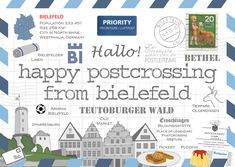 For the first time we dedicate a postcard of the HPC series to a city, and it is not even a capital - Bielefeld. There are many jokes about Bielefeld… First Time, Germany, Poster, Jokes, City, Postcards, Happy, Travel, Beautiful