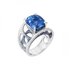 Sapphire and Diamond Ring by Lorenz Bäumer