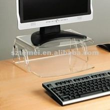 modern clear acrylic LCD monitor stand