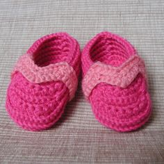 Pink Baby Booties  Crochet Pattern by FrougesArt on Etsy, $3.99