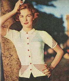 Ravelry: Springtime Cardigan pattern by Australian Women's Weekly Vintage Crochet Patterns, Loom Knitting Patterns, Vintage Knitting, Free Knitting, Vogue Knitting, Knitting Tutorials, Knitting Projects, Stitch Patterns, Knit World