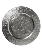 Ornamented silver look chai tray Diy Cabinet Doors, Diy Cupboards, Backsplash For White Cabinets, Kitchen Cabinet Knobs, Table Accessories, Silver Accessories, Kitchen Accessories, Kitchen Wall Panels, Grey Wall Color