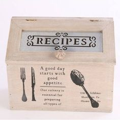 Wooden Recipes Box