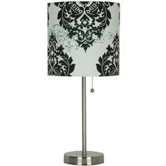 Room Essentials® Stick Lamp - Black and White Damask