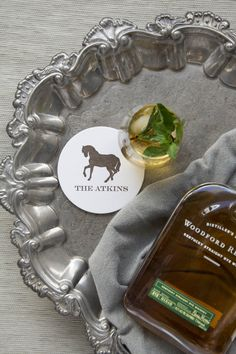 Personalized Coasters, Custom Coasters, Horse Silhouette, Good Ole, Foil Stamping, Chipboard, Letterpress, Derby, Recycling