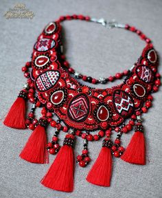 Beautiful embroiderd jewelry by Nataly Uhrin (Part 6) | Beads Magic | Bloglovin'