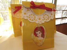 Beauty and the beast party Princess Belle Party, Princesse Party, Beauty And The Beast Theme, Girls Tea Party, 6th Birthday Parties, Birthday Ideas, Diy, Party Ideas, Goody Bags