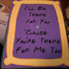 Friends TV Show Door Frame Custom Quote Canvas from Razzy Custom Creations!